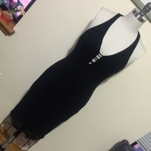 Silence and noise black midi dress